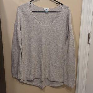 Old Navy Size Large Sweater Beige V Neck